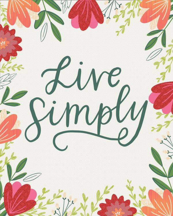 Live Simply - Floral Quilt - Custom Quilts by Stitched