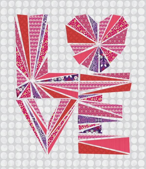 Love Struck - Heart Quilt - Custom Quilts by Stitched