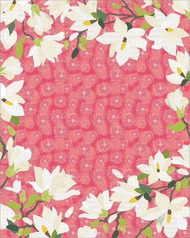 Magnolias Custom Saying Quilt
