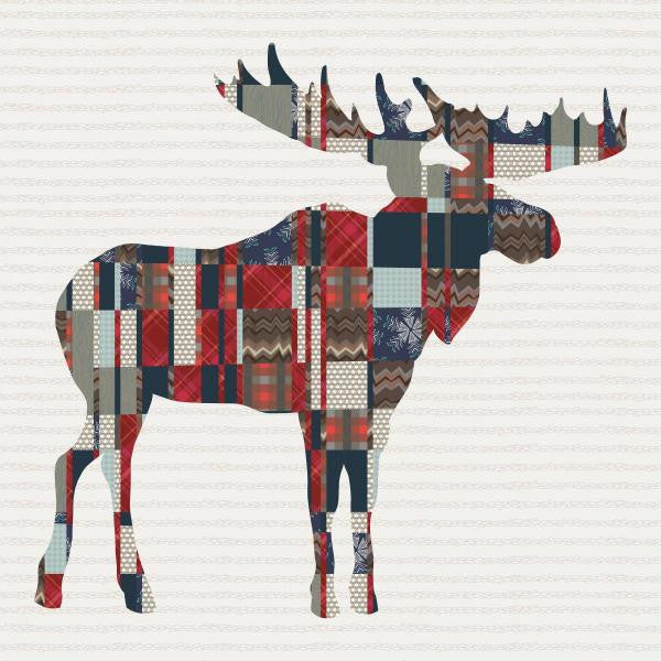Mighty Plaid Moose Quilt