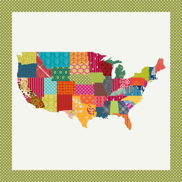 Personalize the States - USA Map Quilt