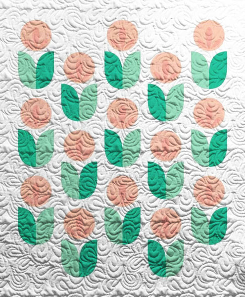 Marigold Flowers Quilt - Custom Quilts by Stitched