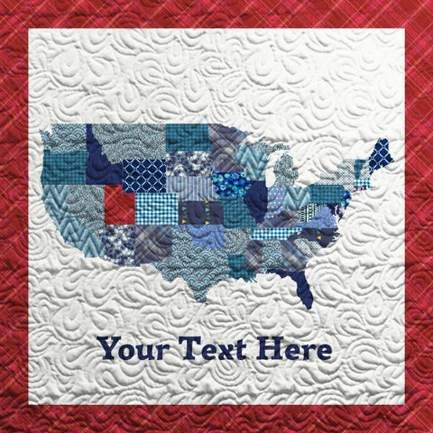 Personalize the States - USA Map Quilt - Custom Quilts by Stitched
