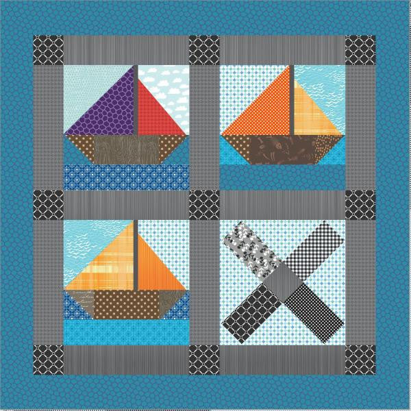 Pirate Ships Treasure Map Quilt