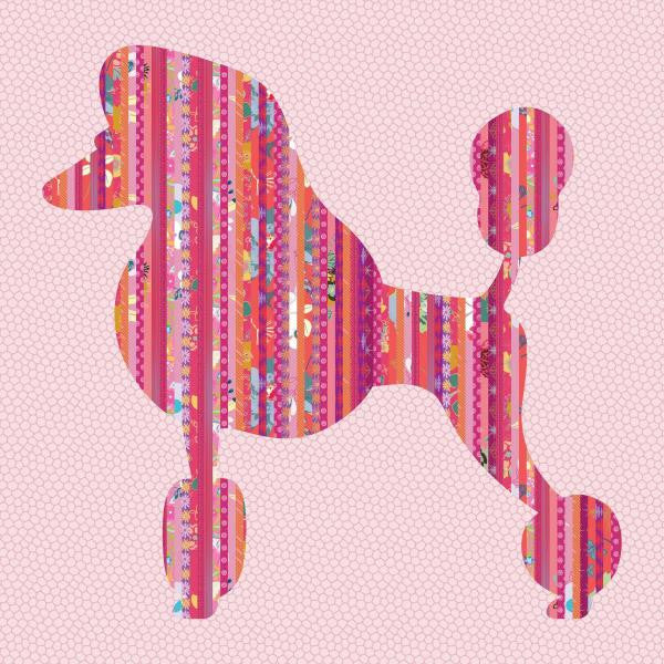 Poochie Poodle - Dog Quilt - Custom Quilts by Stitched