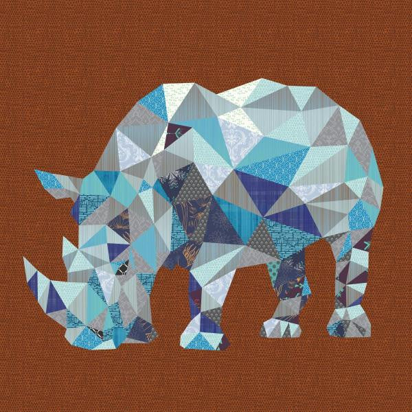 Rudy the Rhinoceros Quilt - Custom Quilts by Stitched