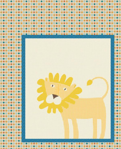 Roaring Good Times - Leo the Lion Quilt - Custom Quilts by Stitched