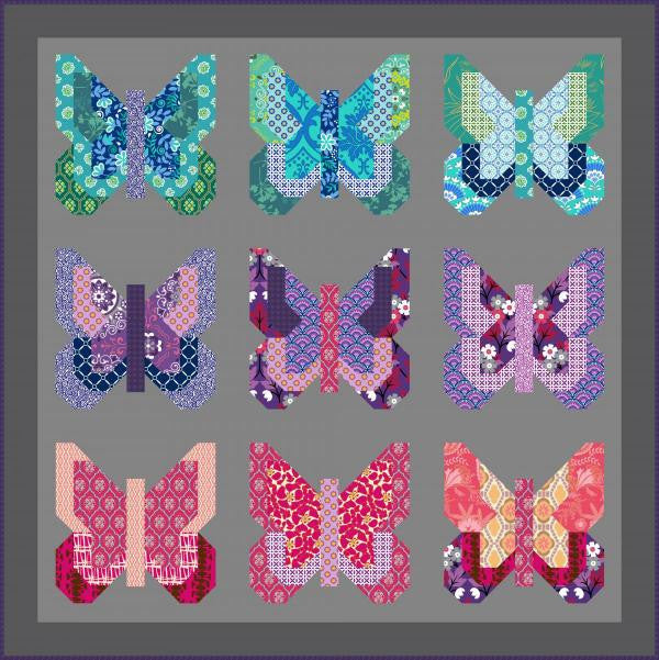 Social Butterfly Quilt - Custom Quilts by Stitched