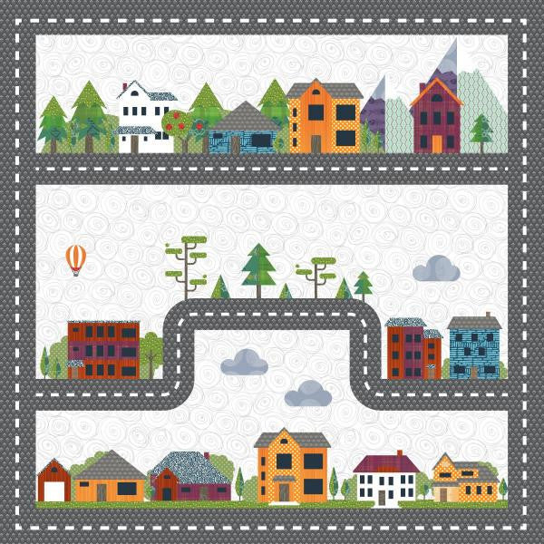 Scenic Drive - Quilt and Car Playmat - Custom Quilts by Stitched