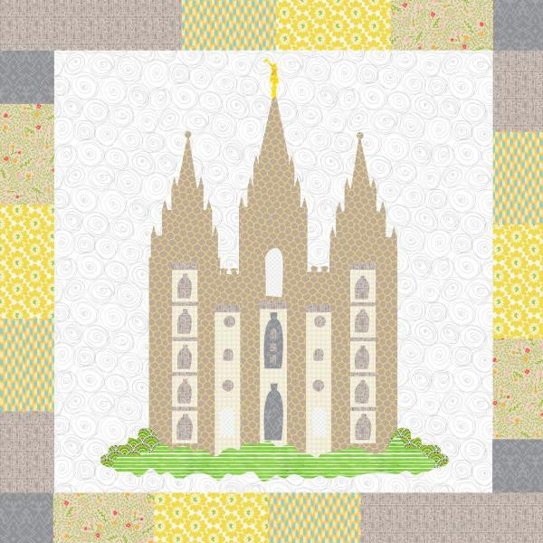 Salt Lake Temple Quilt - Custom Quilts by Stitched