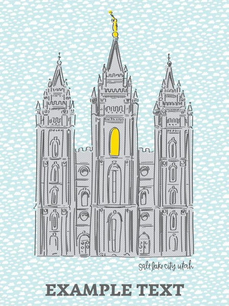 Salt Lake City Utah LDS Temple Quilt - Custom Quilts by Stitched