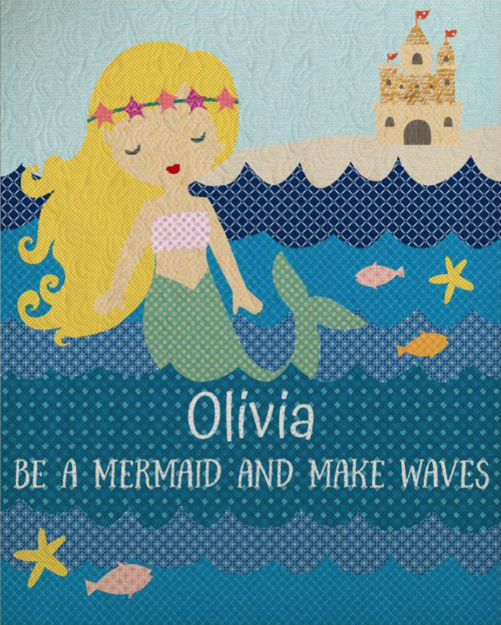 Mermaid Quilt - Custom Quilts by Stitched