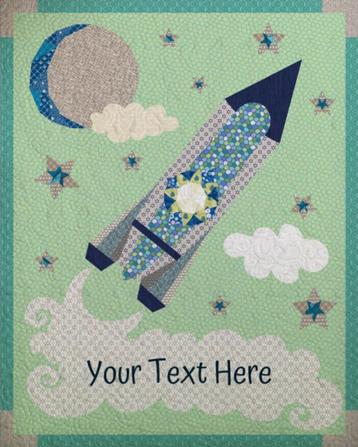Rocketship Quilt - Custom Quilts by Stitched