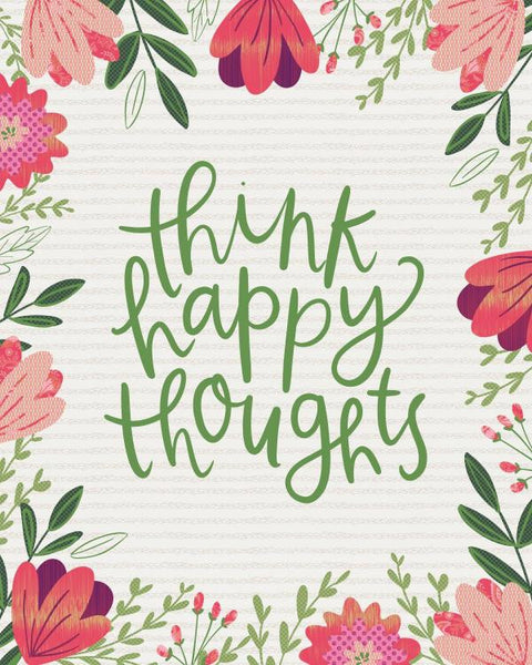 Think Happy Thoughts - Floral Quilt - Custom Quilts by Stitched
