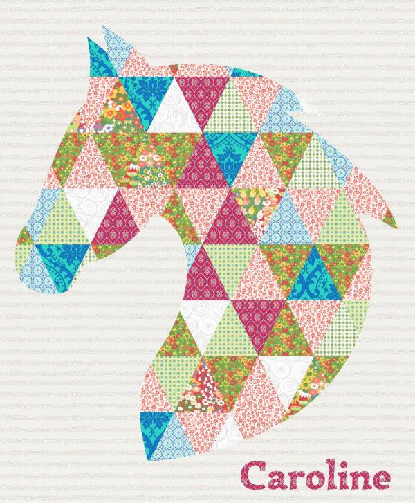 Whoa - Diamond Horse Quilt - Custom Quilts by Stitched