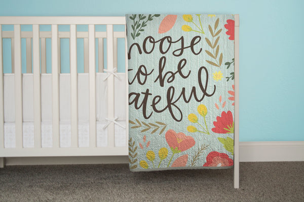 Choose to Be Grateful - Floral Quilt