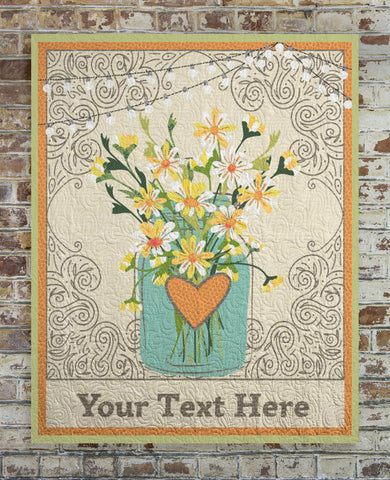 Daisies Custom Text Quilt
