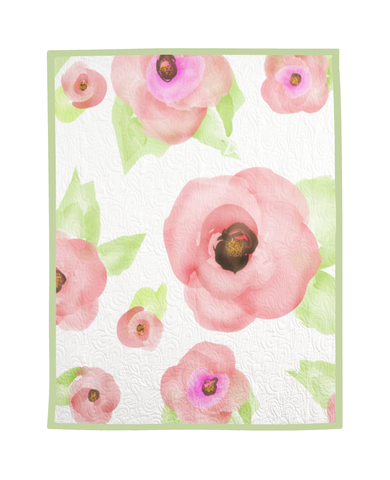 Watercolor Floral Quilt