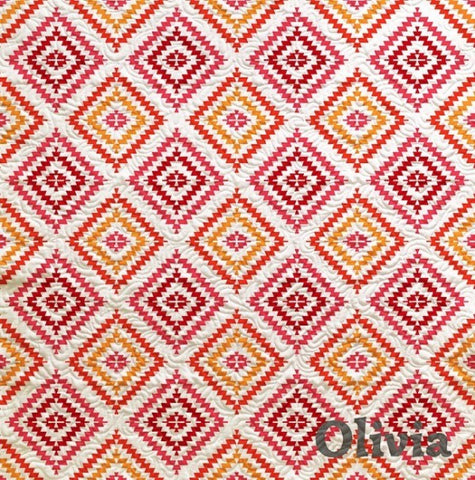 Fringed Contemporary Geometric Quilt - Custom Quilts by Stitched