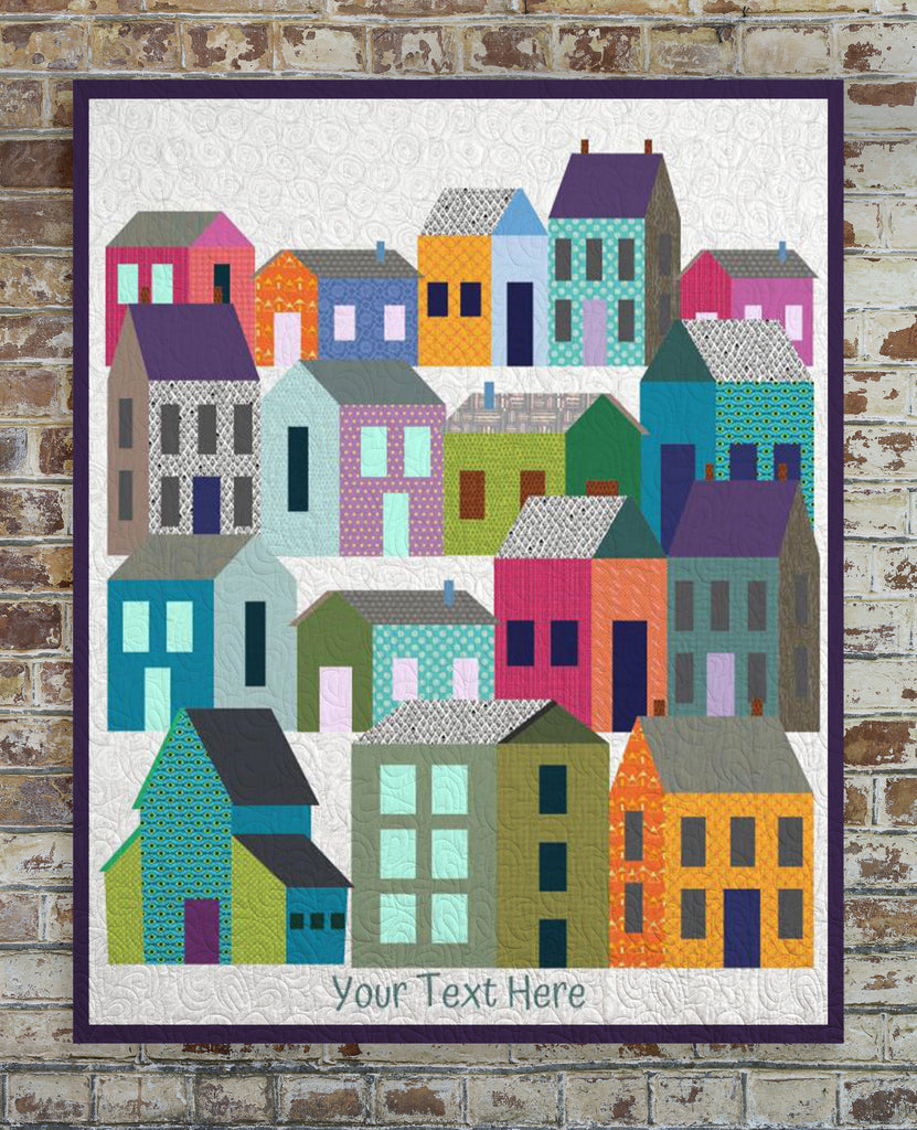 Houses Quilt for Realtors