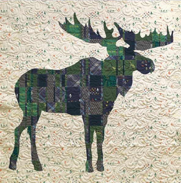 Mighty Plaid Moose Quilt - Custom Quilts by Stitched