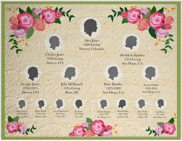 Silhouettes Family History Quilt