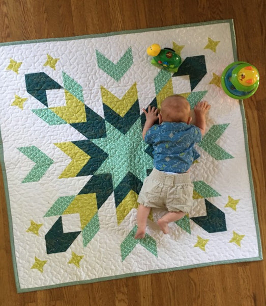 Starburst Geometric Quilt - Custom Quilts by Stitched