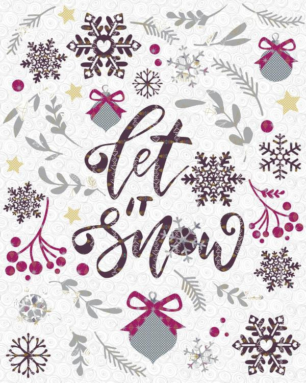 Let It Snow Christmas Quilt - Custom Quilts by Stitched
