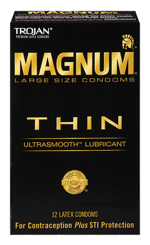 Trojan Magnum THIN condoms - Allcondoms.com