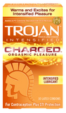 Trojan Charged Condoms back of box
