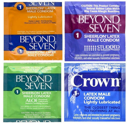 Crown / Beyond Seven Condoms Assortment - Allcondoms.com