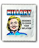 Hillary condoms stop inflation