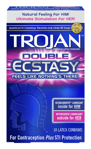 Trojan Double Ecstasy Condoms - Allcondoms.com
