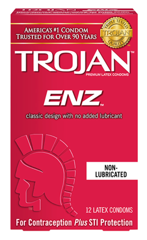 Trojan ENZ Non Lubed Condoms - Allcondoms.com