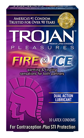Trojan Fire and Ice condoms - Allcondoms.com