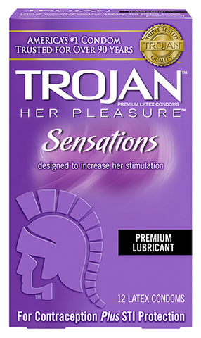 Trojan Her Pleasure Condoms - Allcondoms.com
