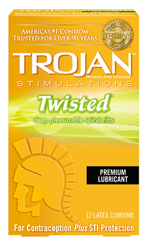 Trojan Twisted Condoms - Allcondoms.com