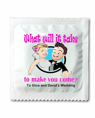 Wedding Invitation Condoms