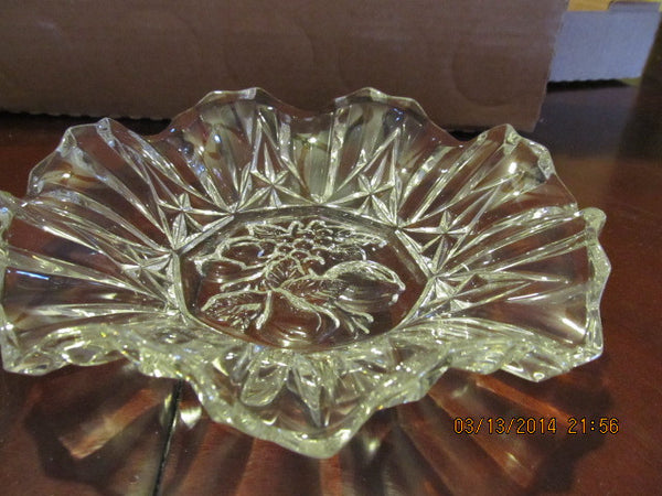 VINTAGE FLUTED ROUND BOWL WITH FRUIT PATTERN - Andres James Vintage Boutique - 1