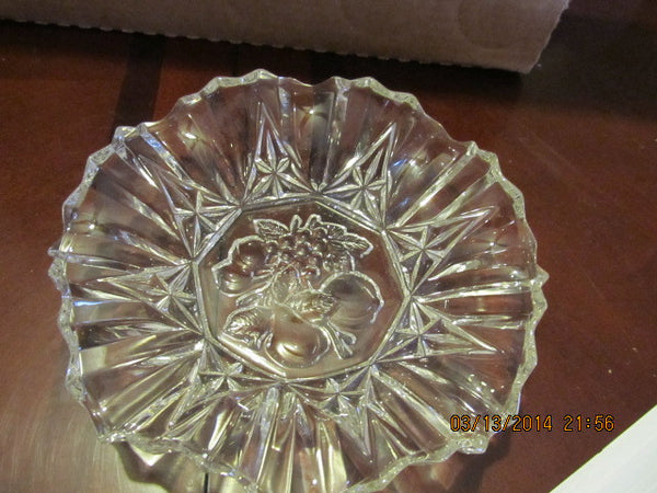 VINTAGE FLUTED ROUND BOWL WITH FRUIT PATTERN - Andres James Vintage Boutique - 2