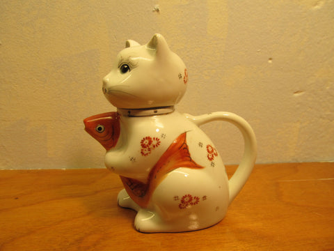 Vintage Cat Tea Pitcher Made in China