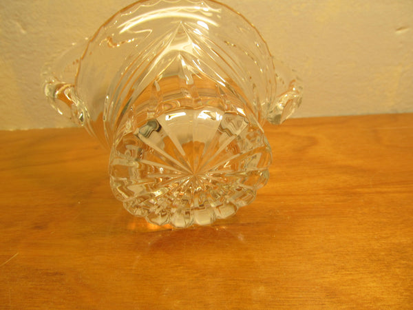 VINTAGE ZAWIERCIE CRYSTAL BASKET MADE IN P0LAND