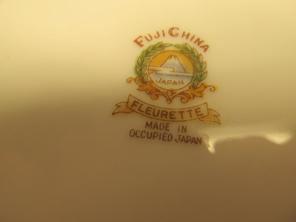 Fuji China Plate made in Occupied Japan