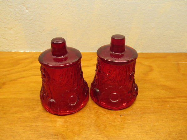 SET OF RUBY RED GLOBES FOR VOTIVE CANDLE HOLDERS - Andres James Vintage Boutique