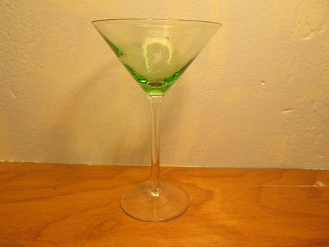 Green and Clear Martini Glass