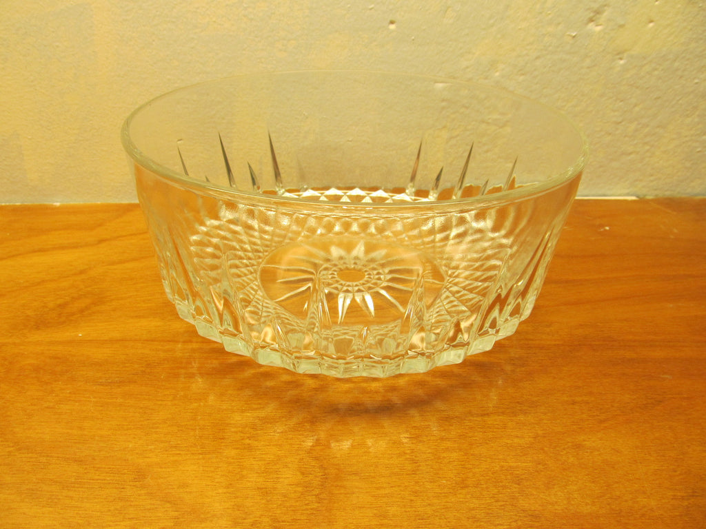 VINTAGE WATERFORD CRYSTAL LISMORE SALAD BOWL FROM ARCOROC FRANCE - Andres James Vintage Boutique - 1