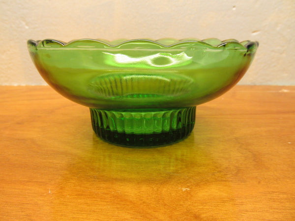 VINTAGE E.O. BRODY GREEN GLASS BOWL M 222 MADE IN CLEVELAND OHIO - Andres James Vintage Boutique - 4