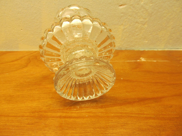 VINTAGE SMALL LEAD CRYSTAL CANDLE HOLDER - Andres James Vintage Boutique - 3
