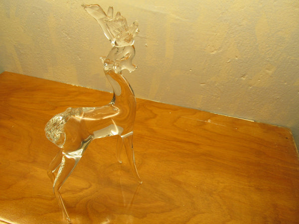 BEAUTIFUL CRYSTAL STAG REINDEER - Andres James Vintage Boutique