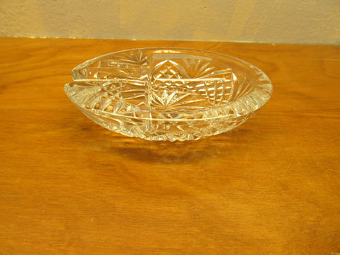 VINTAGE CRYSTAL ASHTRAY - Andres James Vintage Boutique - 1